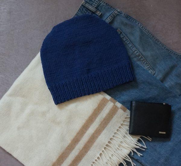 шапка мужская спицами