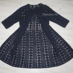 Вязаное крючком летнее пальто